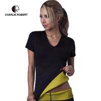 CR 2017 Shapers Size S XXXL Self Heating Sweat Exercise Bodybuilding Fitness Short Sleeved Black Slimming