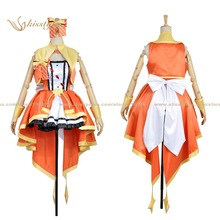 Kisstyle moda las chicas idolmaster cenicienta mio honda final de baile uniforme cos ropa cosplay, modificado para requisitos particulares aceptado