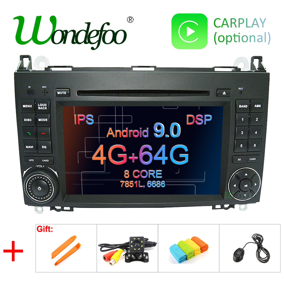 2-Din GPS DSP W906 W169 B170 Vito Ips Android A180 Sprinter W245 B200 W209 W639 Mercedes-Benz