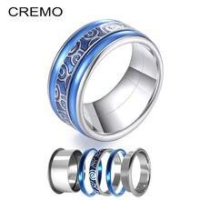 Cremo 10 мм ширина штабелируемые кольца Синий Эмаль Сменные