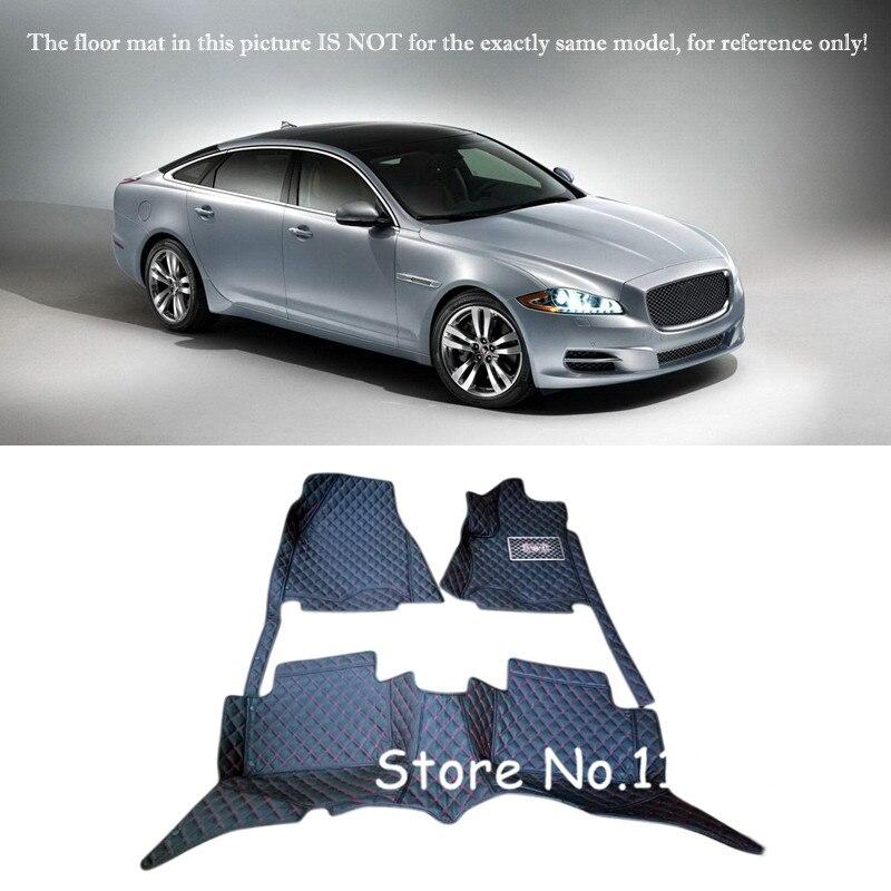 Accessories Interior Leather Custom Car Styling Auto Floor Mats & Carpets Pads For Jaguar XJ 2010-2016