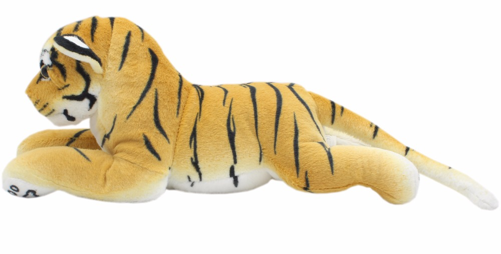JESONN Realistic Stuffed Animals Cheetah Panther Lion Lifelike Soft Plush Toys Tiger Leopard Lioness Pillows for Gifts,45CM smilodon tiger lion polar bear cheetah eagle classic toys for boys ferocious beast movable animal small size without box