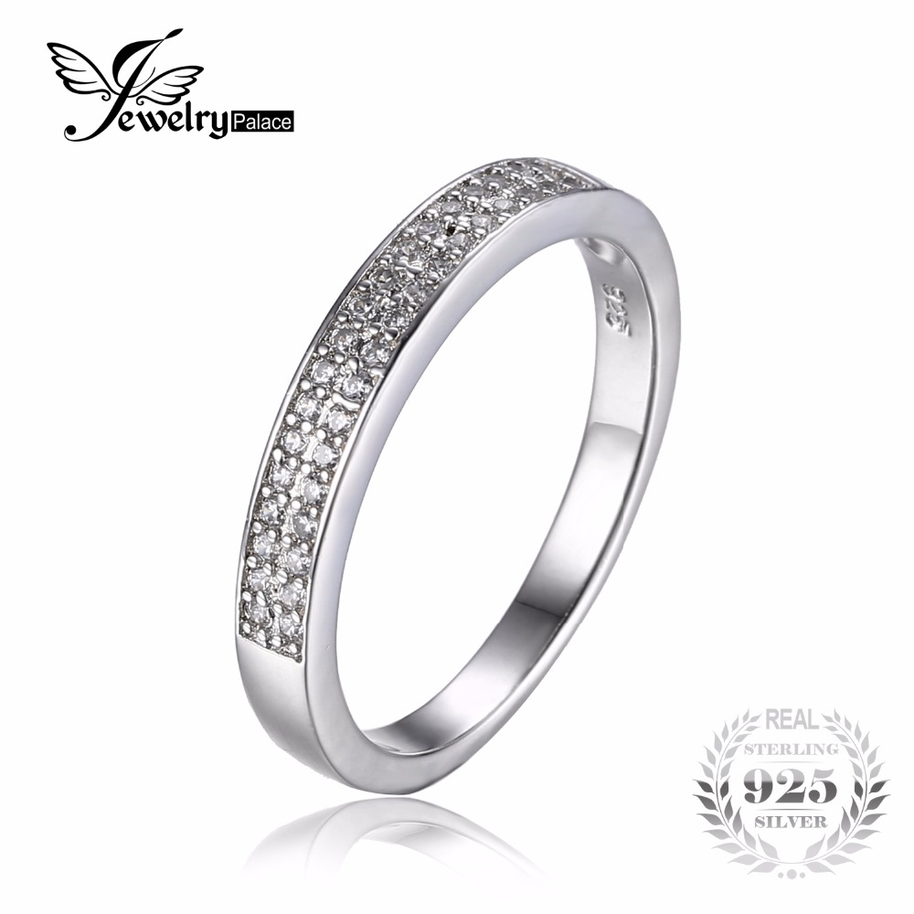 JewelryPalace Cubic Zirconia Anniversary Channel Set Wedding Band Eternity Ring 925 Sterling