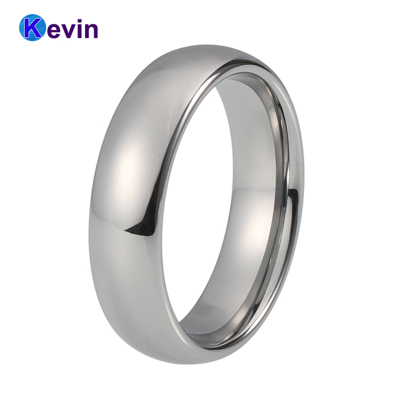 Classic Ring Silver Tungsten Wedding Ring For Men And Women Band 6MM men s classic black tungsten steel cool ring page 4