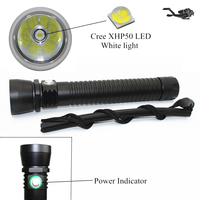 New CREE XHP50 2500Lm LED Diving Flashlight Underwater Support Stepless Dimming Waterproof 100M Diving Tactical Flashlight