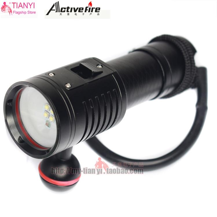 Red/White LED Diving Photoflash Flashlight XPG2 LED Scuba Diver Diving Flashlight 100M 3200 Lumens LED Torch Waterproof Lantern wuben t102 waterproof led flashlight 3200 lumens with type c port