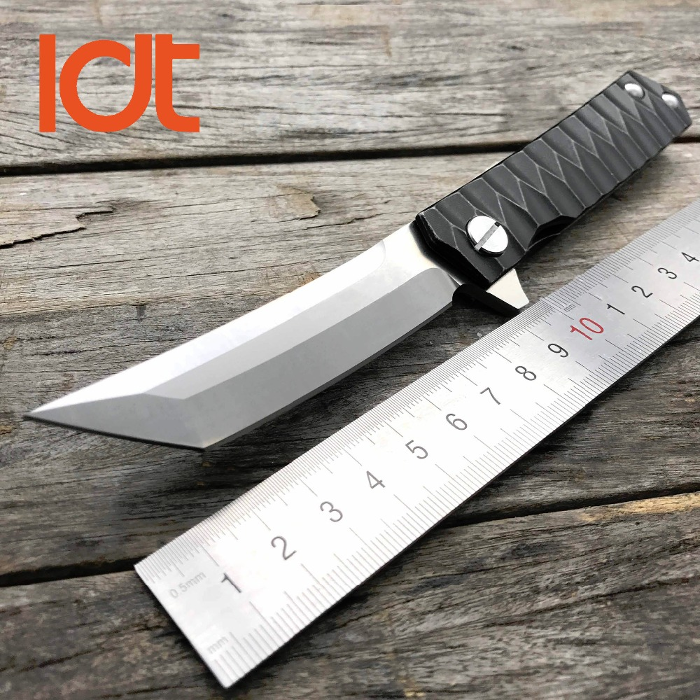 LDT Twosun Tanto Folding Knife D2 Blade Steel Handle Tactical Knives Camping Survival Hunting Pocket Flipper Knife EDC Tools new browning folding knife stainless steel blade woodle handle camping portable survival hunting knife