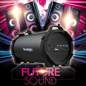 Image 5 - Smalody głośnik Bluetooth przenośne bezprzewodowe głośniki na zewnątrz z pasek do noszenia wbudowany USB, gniazdo karty tf, Aux najlepiej na imprezę