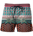 Archi Building Beach Shorts Mens Vacation Casual Short Pants Hip Hop Streetwear Board Shorts Hipster 3D Shorts