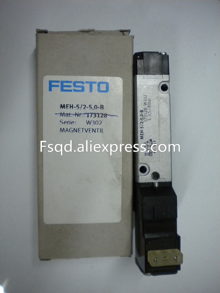 New and original FESTO solenoid valve MEF-5/2-5,0-B 173128 New and original FESTO solenoid valvepneumatic components brand new authentic festo throttle valve gro m5 b 151214