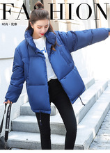Casaco de algodão feminino, casaco de inverno para mulheres, quente, de manga comprida, grosso, com zíper roupas