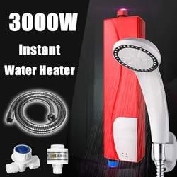 220 V 3000 W Elektrische Tankless Instant Boiler + Douchekop + Slang Kit Badkamer Keuken Gebruik Instant boiler Systeem