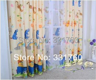 64a187ef5c1f Winnie the Pooh cartoon children blackout curtains blackout fabric living  room upscale bedroom finished custom fabric curtains