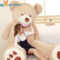 200 см Американский гигант Мягкий Плюшевый Медведь Мишка мягкая игрушка Святого Валентина огромный медведь подарок на день рождения для Обу