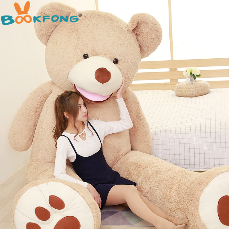260CM Oversize Giant American Plush Bear Soft Teddy Bear Stuffed Toy Valentine's Huge Bear Birthday Gift for Girls Children new 200cm huge giant yellow teddy bear soft big plush toy stuffed kid baby doll life size bear doll for children girls gift llf