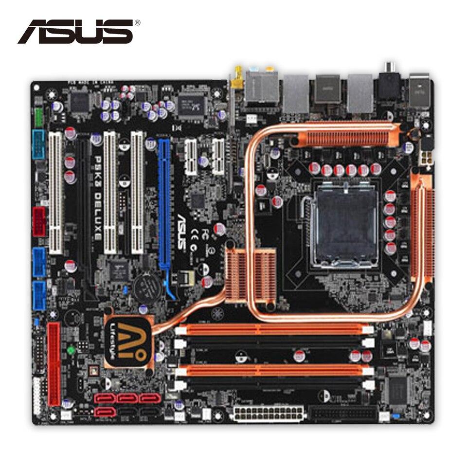 Original Used Asus P5K3 Deluxe/WiFi-AP Desktop Motherboard P35 Socket LGA 775 DDR3 SATA2 ATX 100% Fully Test original used asus p5kpl desktop motherboard g31 socket lga 775 ddr2 sata2 atx 100% fully test