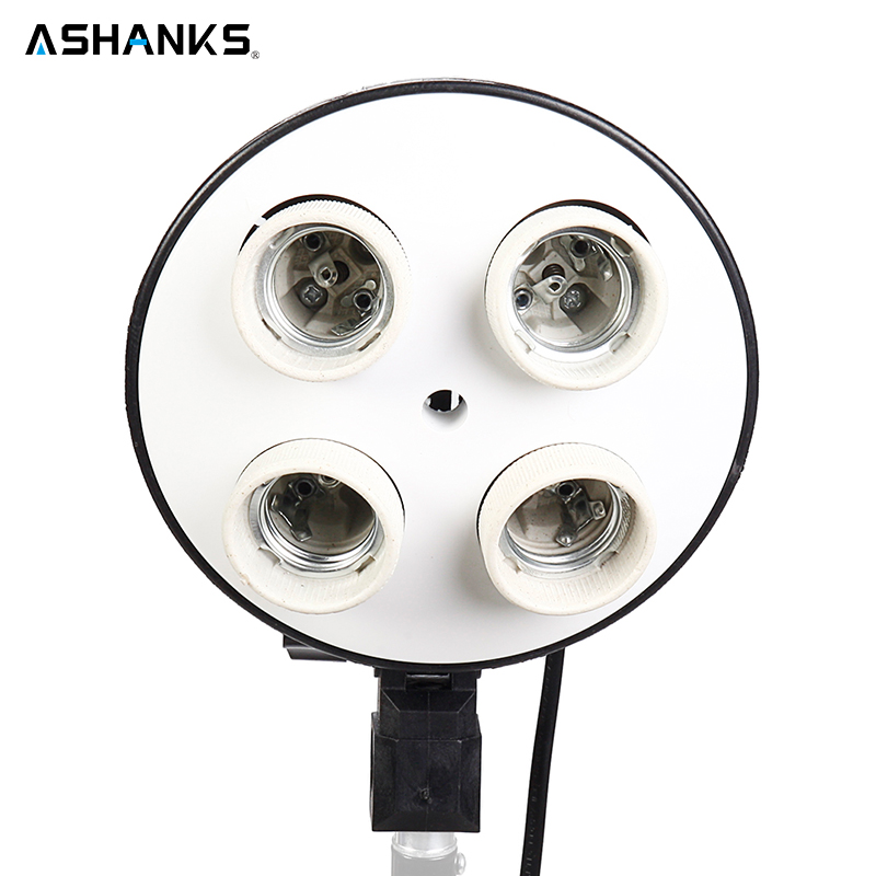 "ASHANKS 50*70cm/19*27"" Softbox with 1 to 4 Socket Lamp Head Lighting Accessories for Photo Video Studio Light Diffuser Soft box"