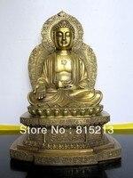 Ev ve Bahçe'ten Statü ve Heykelleri'de Wang 00060 Tibet Buddhis Amitabha bronz buda heykeli