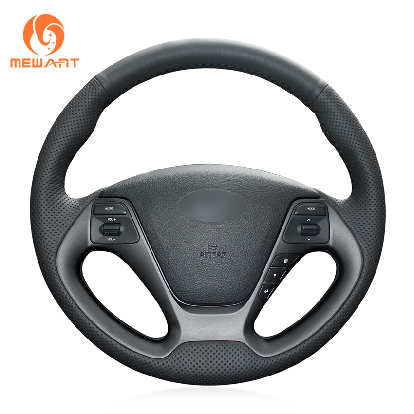 Black Artificial Leather Car Steering Wheel Cover for Kia K3 2013 K2 Rio 2015 2016 Ceed Cee'd 2012-2017 Cerato 2013-2017 суфий 15 осень 2012 зима 2013