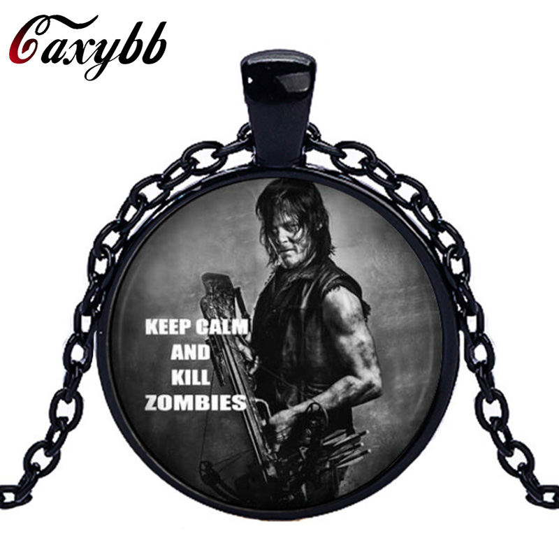 Caxybb movie jewelry The Walking Dead scaring pendant necklace the living room of the bronze pendants jewelry of the charms ...