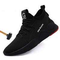 LAKESHI/брендовая рабочая обувь; легкая обувь со стальным носком; нестираемая обувь; мужские и женские рабочие защитные ботинки; дышащая мужска...