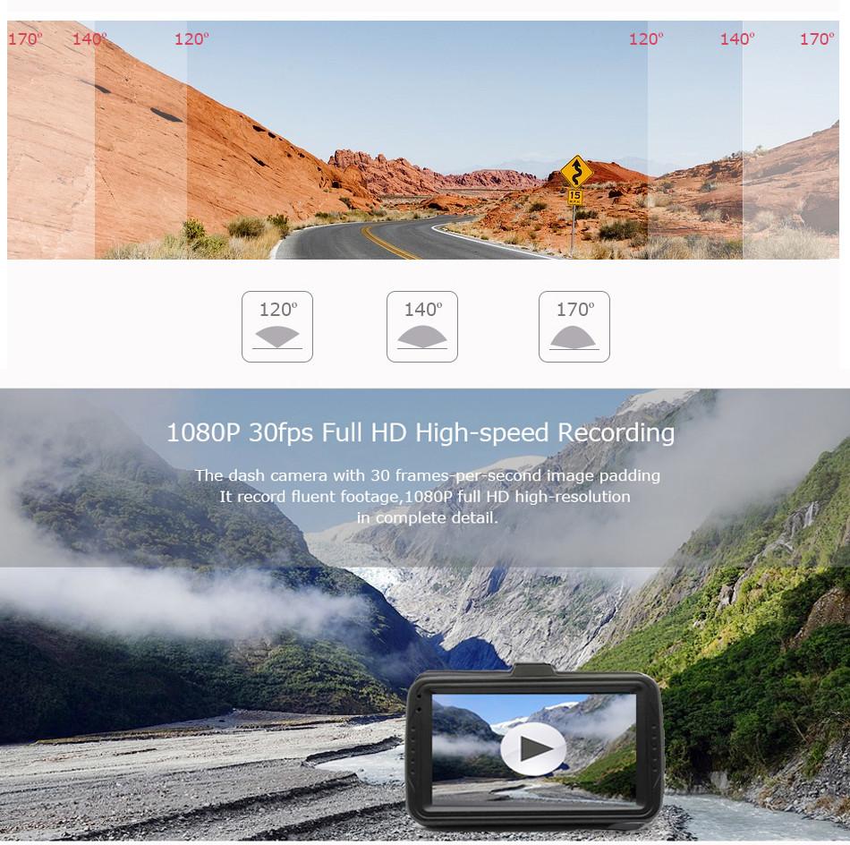 SKydot 3 Inch Mini Car Dvr Dash Cam Full HD 1080P Vehicle Camera Camcorder 170 Degree Night Vision G-Sensor Digital Video Recorder06