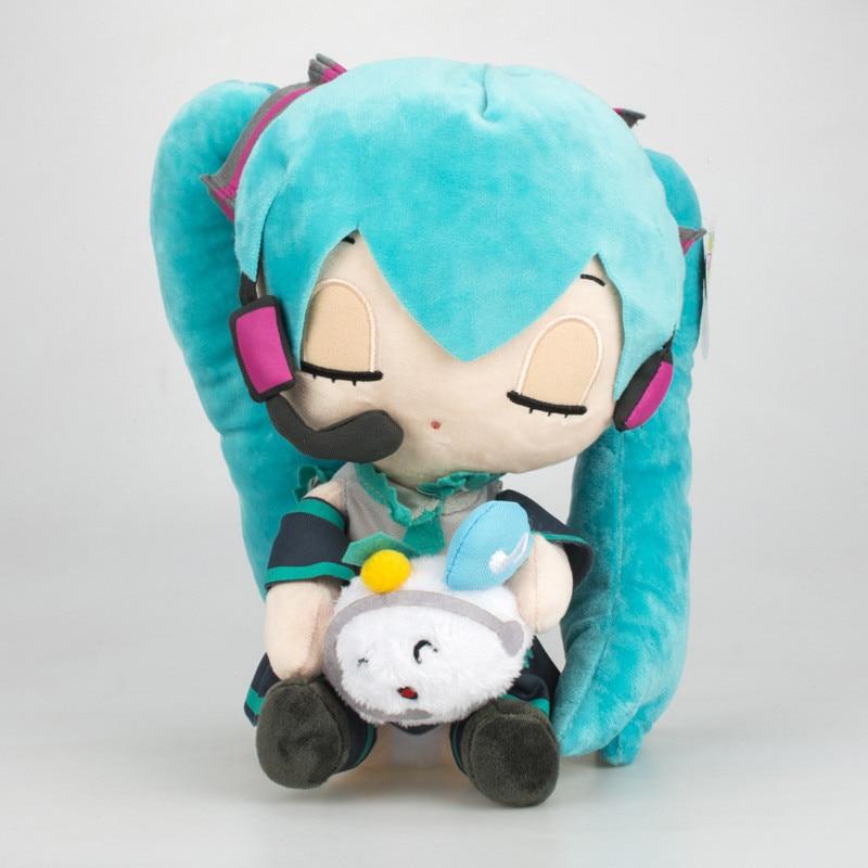 Anime Hatsune Miku Plush Toys New Snow Vocaloid Hatsune Miku Pillow Stuffed Doll Toys Kids Friends Fans Cosplay Gift 25-30cm hatsune miku winter plush doll