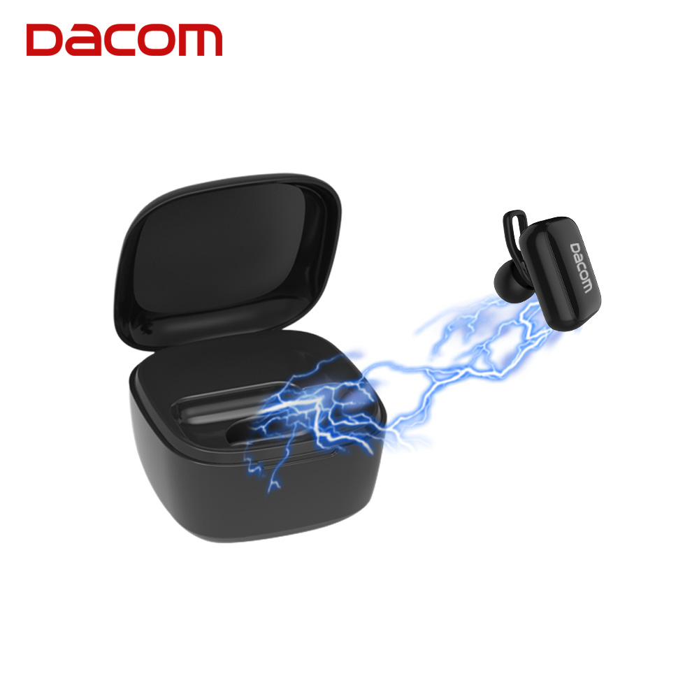 DACOM MD30 True Wireless Bluetooth Earphone Earbuds Business Headset Earpiece with Mic Charging Box for iPhone 5 6 7 8 Samsung dacom bluetooth earphone mini wireless stereo headset tws ture wireless earbuds charging box for iphone xiaomi android phone