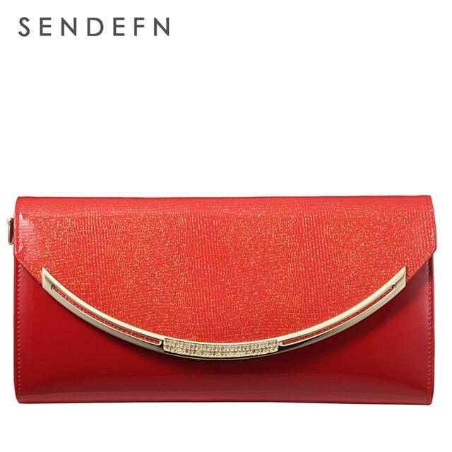 Sendefn Bag Luxury Women Bag Patent Leather Handbag Shiny Handbag Women Fashion Chain Bag New Crossbody Bag Handbag Party Clutch