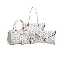 Vbiger 5 In 1 Girls PU Leather Shoulder Bag Set Stylish Messenger Bag Casual PU Leather