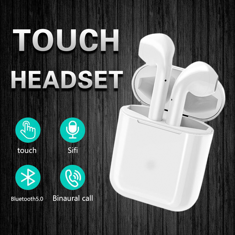 <font><b>T9</b></font> <font><b>TWS</b></font> Double Mini Bluetooth 5.0 Touch control Wireless Earphones with Mic headset for iphone Android Phone i 10 i12 image