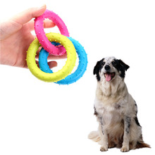 Three Colors Pet Dog Chew Toys Ring Combination TPR Soft Rubber Pet Training Toys For Dog Puppy Dog Toys