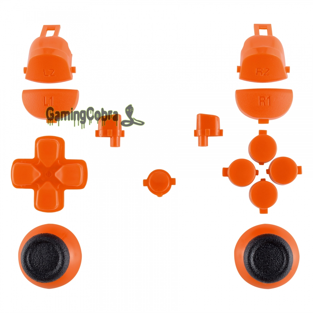 Button R1 L1 R2 L2 Repair Kit for PS4 Pro Slim Controller Solid Orange CUH-ZCT2 JDM-040