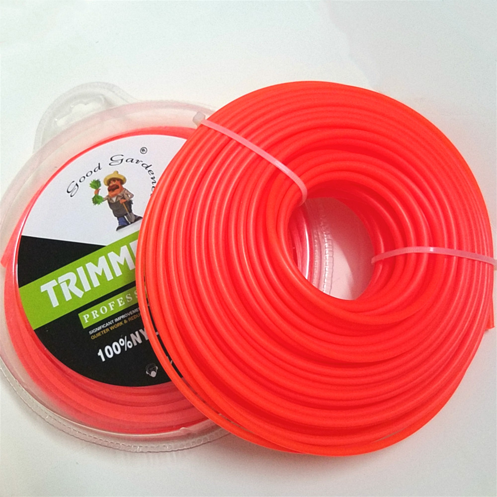 Amiable Grass Trimmer Line 4.0mm*1lb/450g Strimmer Brushcutter Trimmer Nylon Round Roll Grass Rope Line For Power Grass Weed Cutting Garden Power Tools Garden Tools