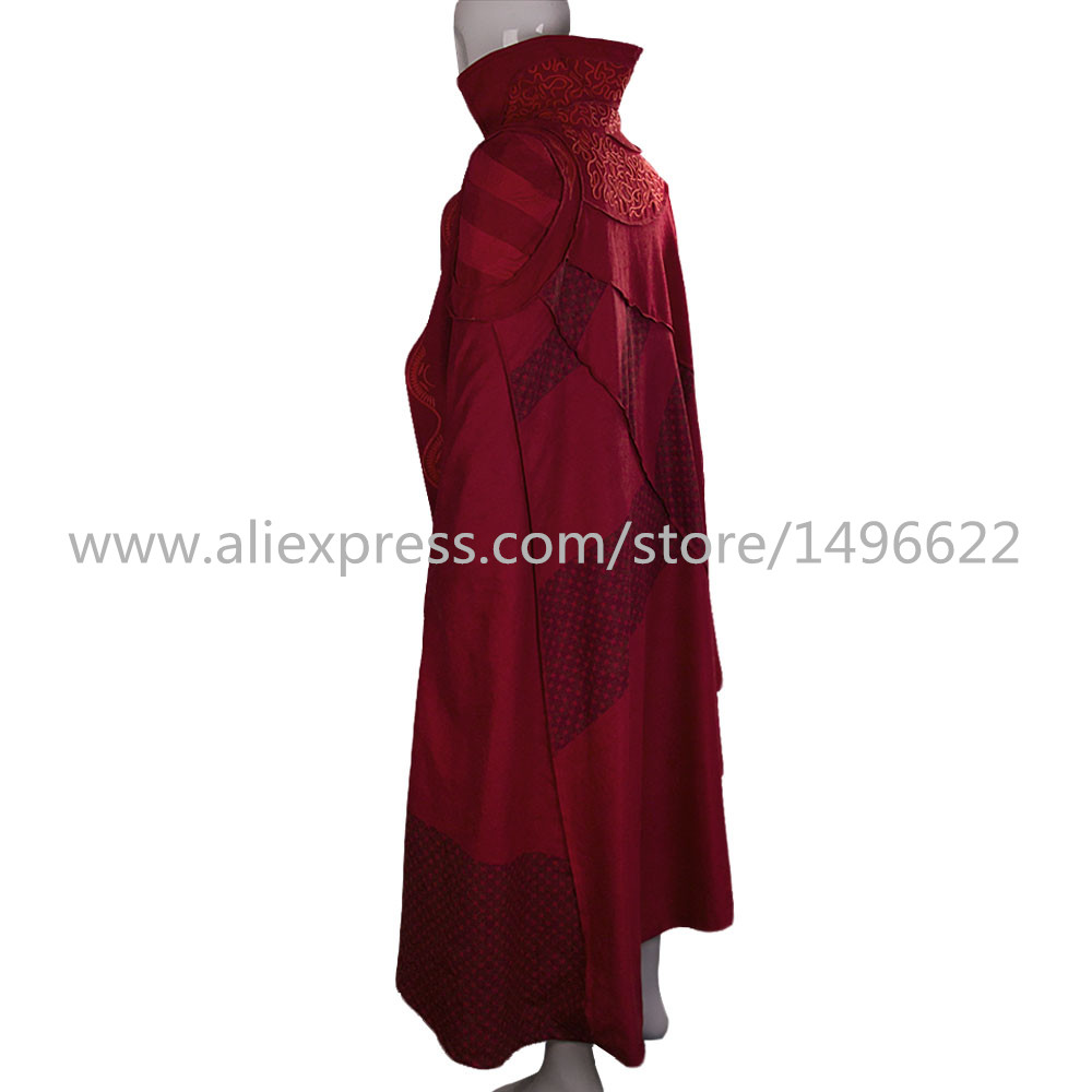 Doctor Strange Costume Kids and Adult Cosplay Steve Red Cloak Costume Robe Halloween Costume Party (2)