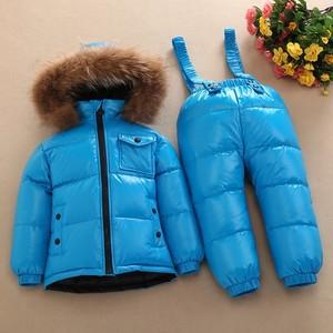 Image 5 - Детский лыжный комбинезон на морозы до 30 градусов, комплект одежды для мальчиков и девочек, детская зимняя куртка, непромокаемые комбинезоны