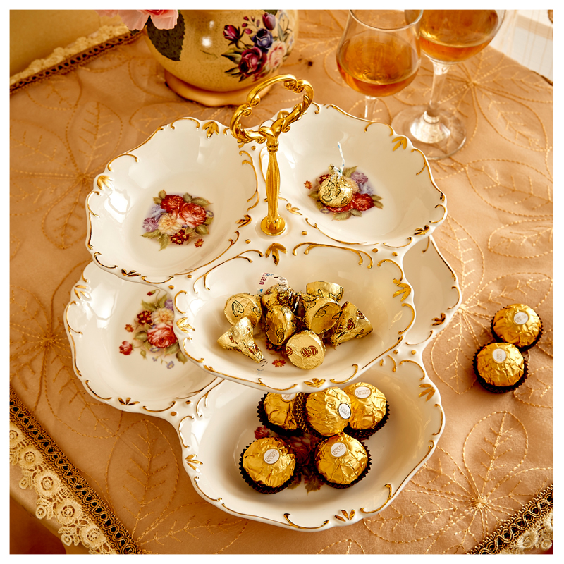 Home Wedding Party Dekorative Kristall Candy Tray Obstschale Snack Serving