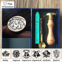 New Hogwarts Wax Seal Gift Box Copper Stamp With Wax Spoon League DIY Gift Ancient Seal