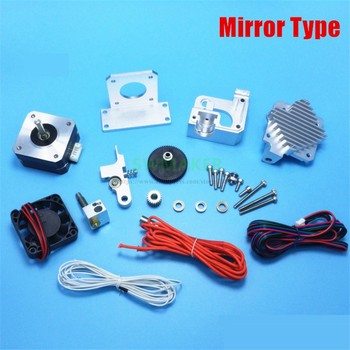 Mirror type All metal Prusa i3 MK2 Titan Aero extruder kit with motor + E3D Titan Aero Heat sink + V6 hotend j-head