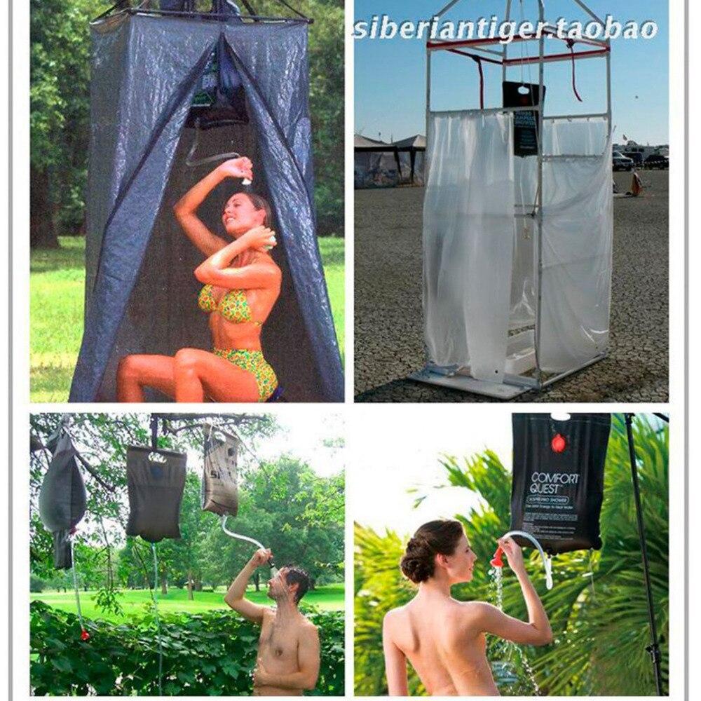 20L Portátil Saco de Água Aquecida por Energia Solar Aquecida Banho Chuveiro Acampamento Ao Ar Livre Saco de Água Saco de Piquenique CHURRASCO Armazenamento de Água Caminhadas