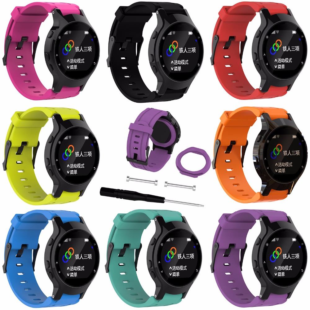 procédés de teinture minutieux double coupon beaucoup de choix de US $9.99 |Sports Silicone Rubber Watch Band Strap for Garmin Forerunner 225  GPS Running Watchbands Wrist based Heart Rate Monitor-in Smart Accessories  ...