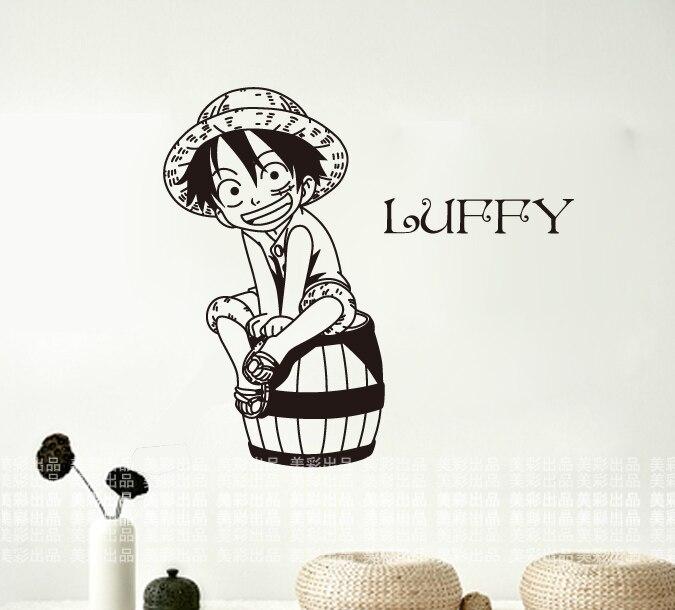 One Piece Wall Stickers Japanese Cartoon Luffy Mural Art Wall