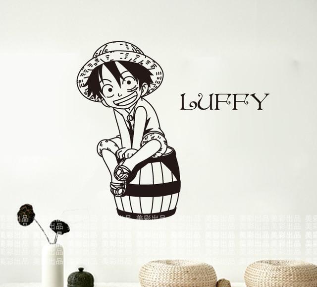 Stiker Kartun Jepang Luffy One Piece Dinding Mural Art Wall Sticker