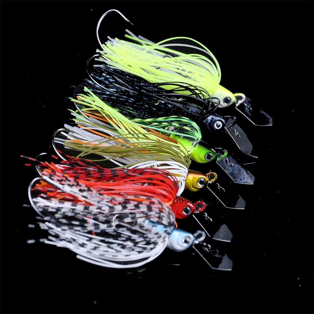 JonStar 13G/16G Spinner Bait Fishing Lure Buzzbait Chatter Bait Wobbler Isca Artificial Rubber Skirt For Bass Pike Walleye