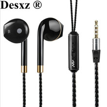 Desxz Earphone Super Bass Earphones Headset mi Wire Stereo Headset In ear earbuds with mic airpods For Phone MP3 fone de ouvido