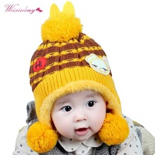 WEIXINBUY Baby Winter Hat Cute Warm Infant Beanie Cap For Children Boys Girls Animal Cat Ear Fashion Kids Crochet Knitted Hat new fashion cute winter ear cap warm wool knitted beanis hat for baby girls boys apparel accessories gorro masculino 7z