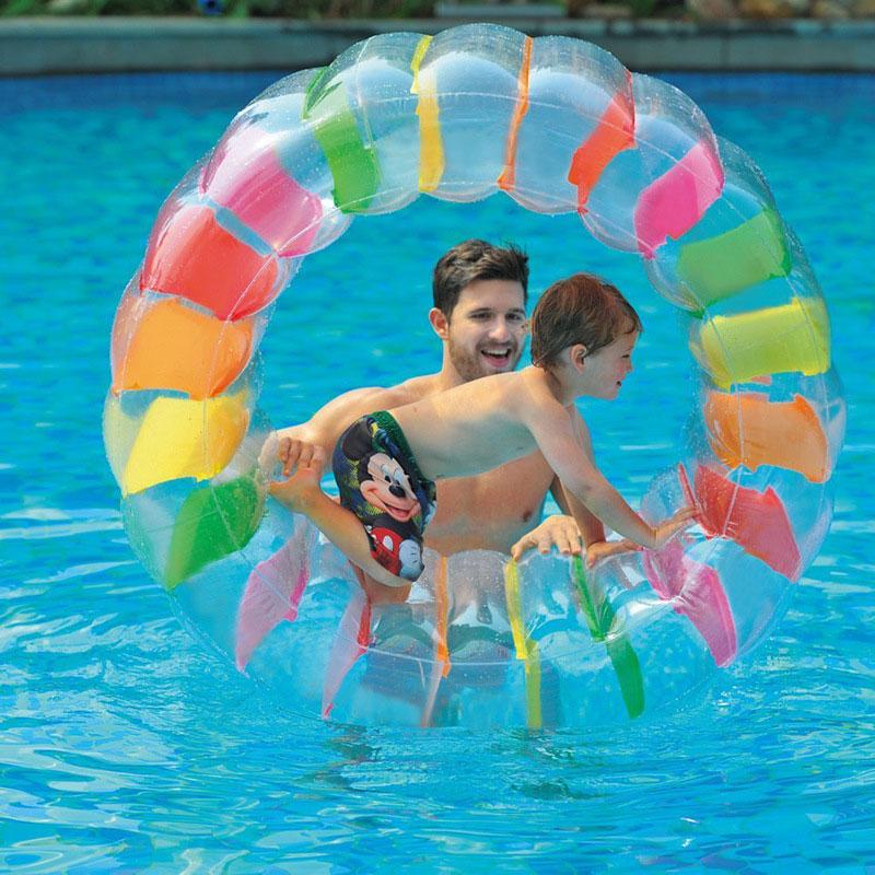 Красивые водяное Колесо 36 дюймов Море надувной бассейн колеса для ролика поплавок Прямая