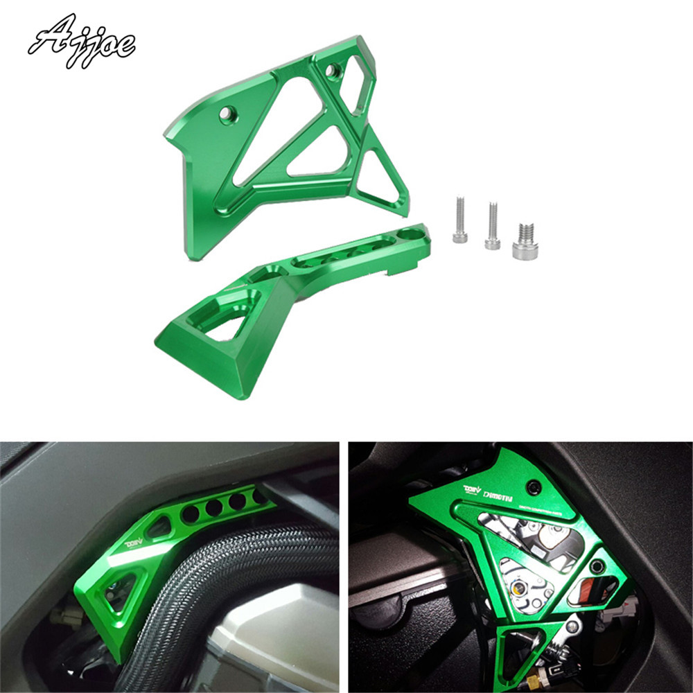 Motorcycle Engine Stator Protective Cover Frame Cover For Kawasaki Z1000 2014-2016 Fuel Injection Jnjector Cover