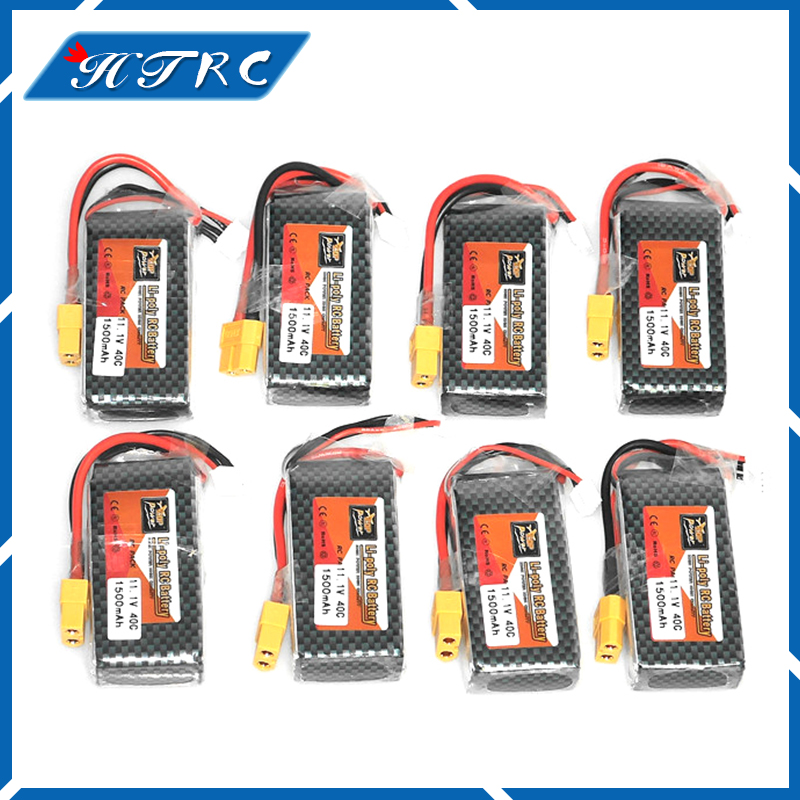 Zop 8pcs/lot Lipo Battery 11.1V 1500Mah 3S 40C Max 60C XT60/T Plug For RC Quadcopter Helicopter WLtoys V950 Free shipping zop original lipo battery 11 1v 1500mah 3s 40c max 60c xt60 plug for rc quadcopter drone helicopter car airplane toy parts