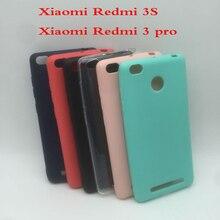Xiaomi redmi 3 S redmi 3 pro 3 s caso suave para Xiaomi redmi 3 s marca de cristal y botones y el colores cubierta del caso